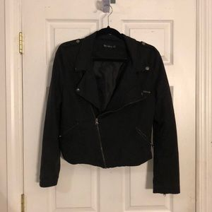 Bycorpus Motorcycle Moto Jacket Faux Suede